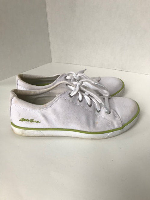 Eddie Bauer White Canvas Tennis Shoe