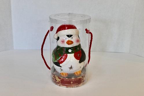 Ceramic Christmas Penguin Tea Light Holder