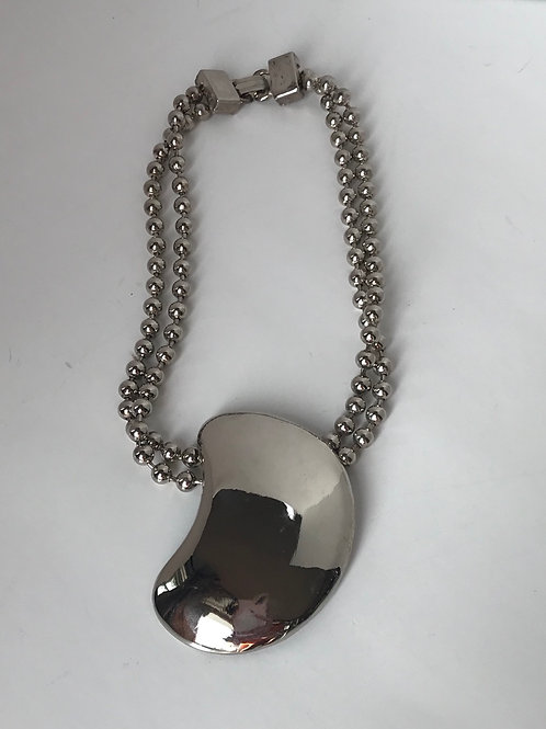 Large Silver Plate Necklace