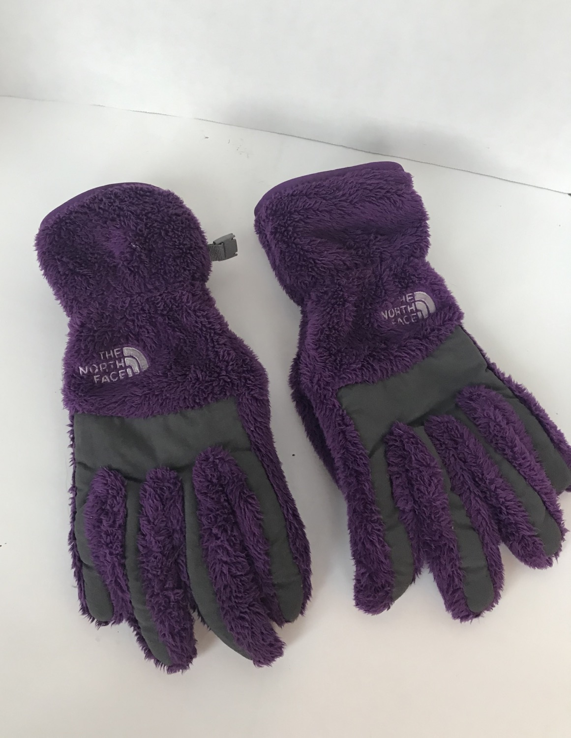 North Face Purple Gloves