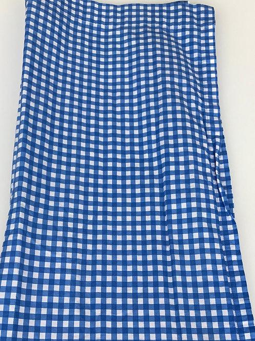 Blue & White Plaid Shower Curtain