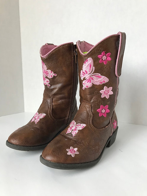 Little Girl's Leather Cowgirl boots (Size 10)