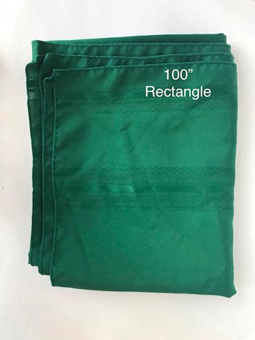 "100"" Rectangular Green Table Cloth"