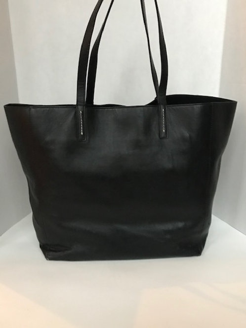 Gap Black Leather Large Tote