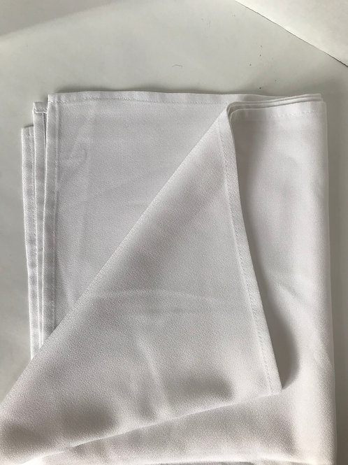 "Square Off White 52"" Table Cloth"