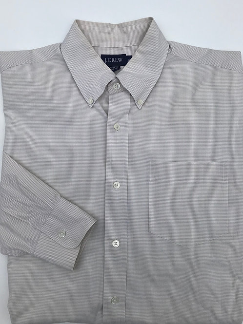J Crew Beige Plaid Button Down (M)