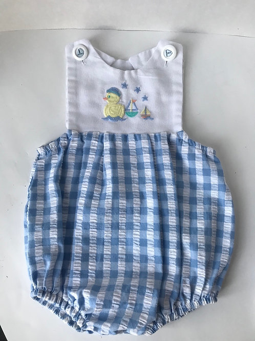 Ducks & Sailboats Gingham Outfit