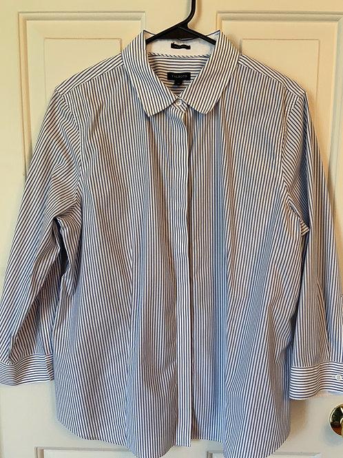 Talbot's Pin Stripe Blouse