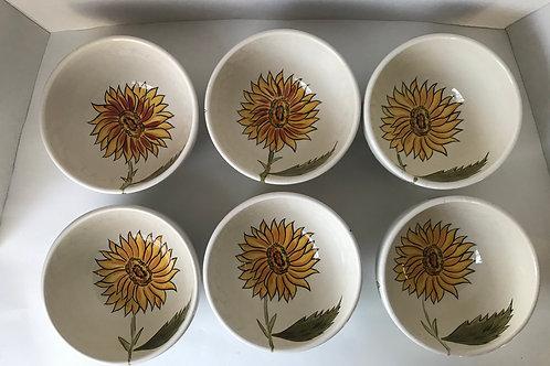 Pier One 'Sunflower Fields' Ceramic Bowls