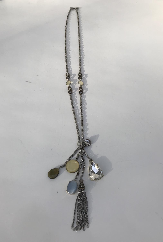 Loft Long Dangle Necklace with Tassels