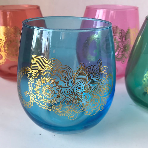 Colorful Stemless wine Glasses