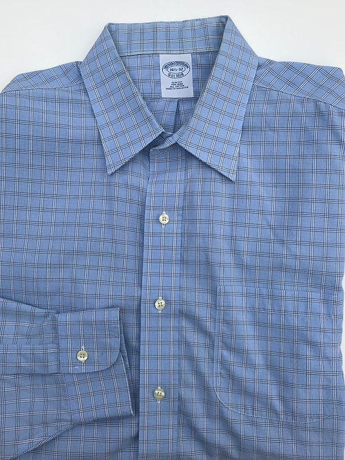 Brook's Brothers Blue Plaid Button Down (16.5/32)