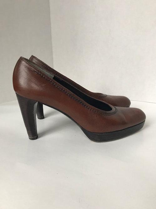 Stuart Weitzman Brown Leather Heel