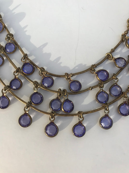 Purple GemDrops Necklace