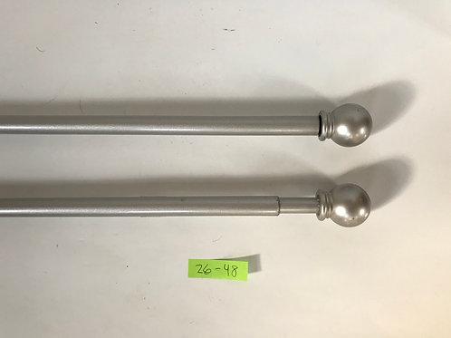 Brushed Nickel Rod w/ Round Finials