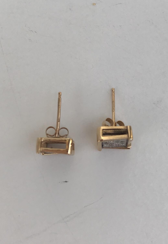 Thumbnail: Gold & Silver Square Studs
