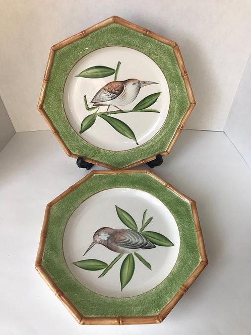 Bamboo Bird Decor Plates