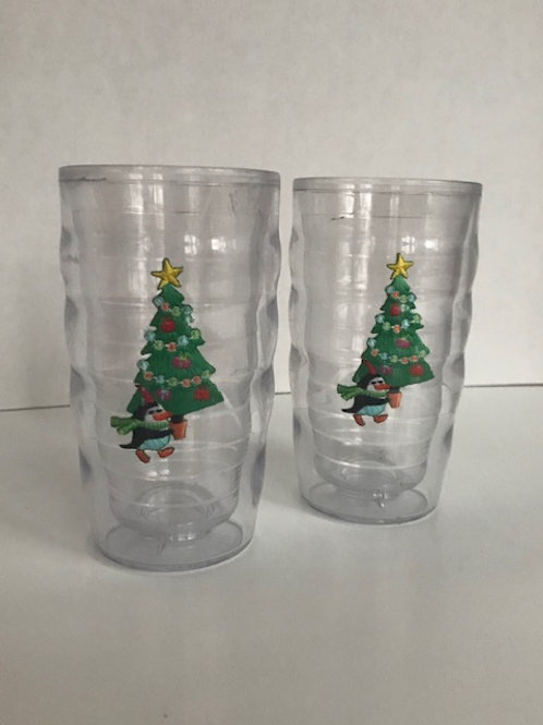 Plastic Holiday Penguin Cups (2)