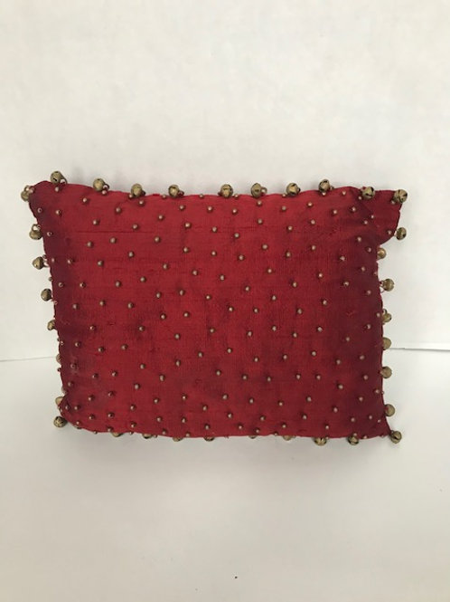 Bells On Fringe Small Pillow