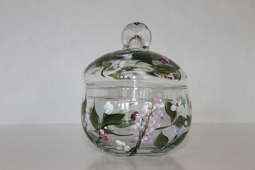 Hand Painted Decorative Glass Jar