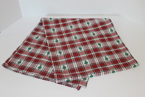 """58"""" Plaid Holiday Table Runner"""