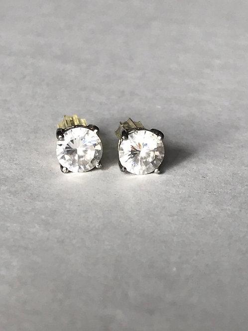 Clear Stone Stud Earrings