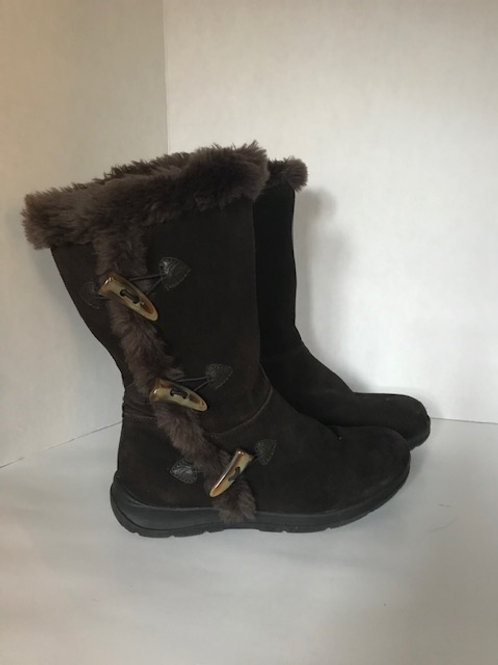 White Mountain Brown Suede Boot