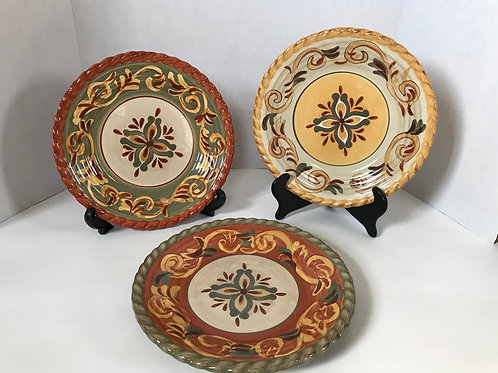Tuscan Countryside Terra-Cotta Plates