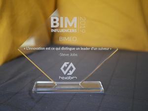 Bimeo au palmarès des BIM Influenceurs de l'année 2019.