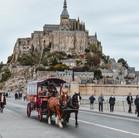 Balade en calèche au Mont-Saint-Michel