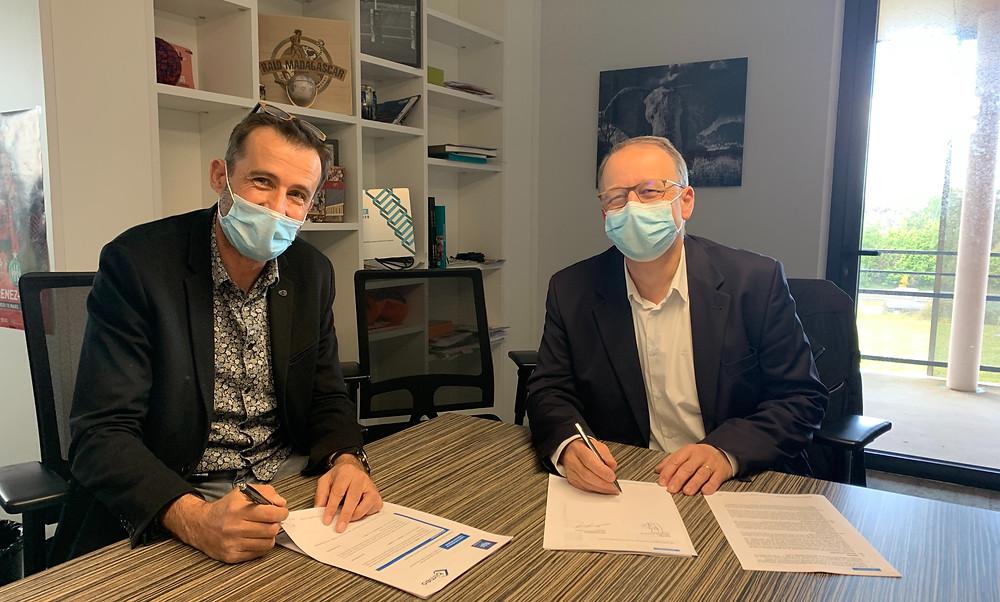 Signature du contrat entre bimeo et ITGA