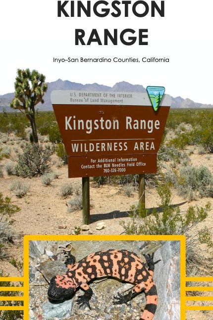 Checklist: Kingston Range, CA