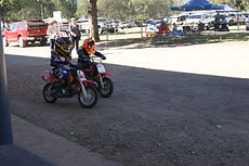 Kids having fun riding motor bikes at Kenilworth Chook Chase