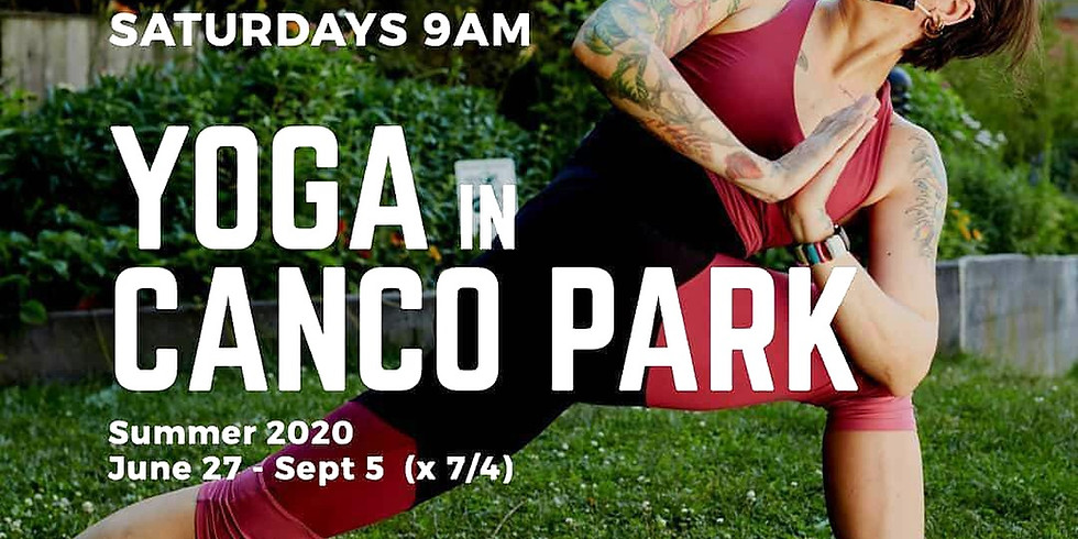 Yoga In The Park every Saturday through September 5th
