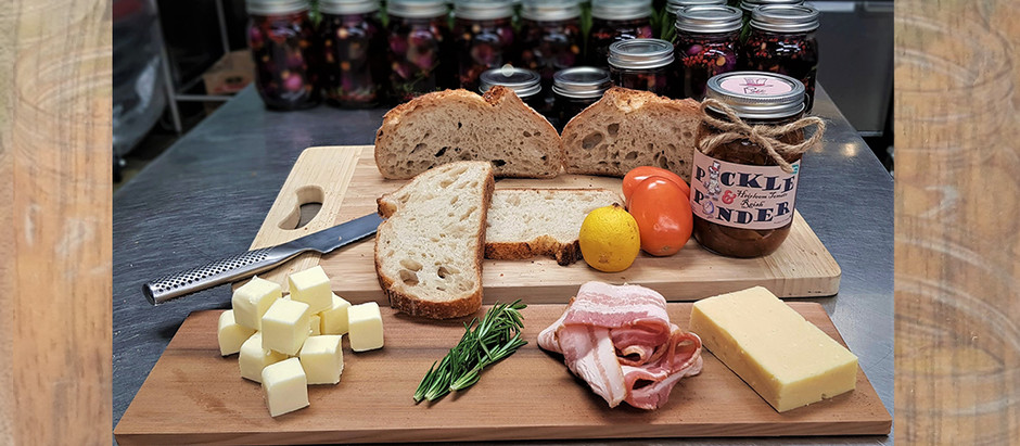 Ponder's Pairings No. 1 - Heirloom Tomato Relish and Bacon Toastie