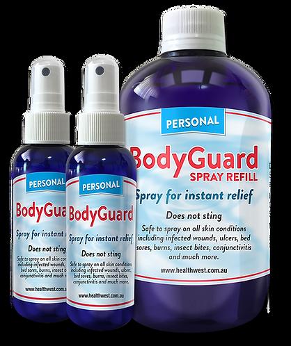 1 BodyGuard 500ml Refill + 2 BodyGuard Spray