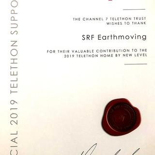Telethon 2019 certification of appreciat