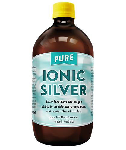 Ionic Silver 20 PPM 500ml GLASS Bottle