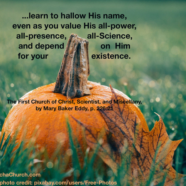 learn to hallow His name