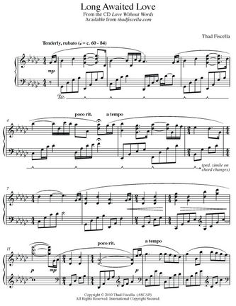 Thad Fiscella Sheet Music