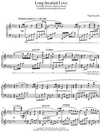 Home Page Sheet Music by Thad Fiscella