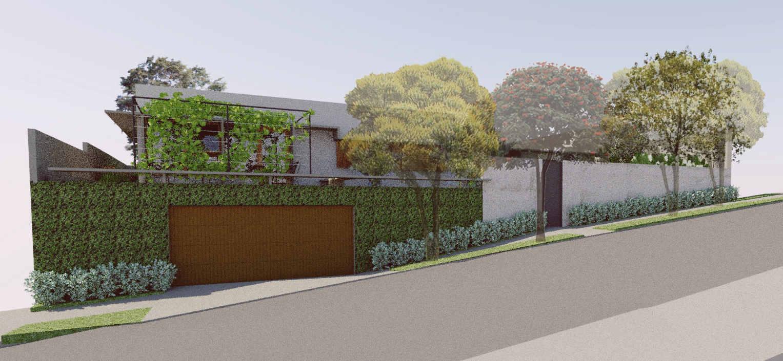 ilustração jardim da calçada