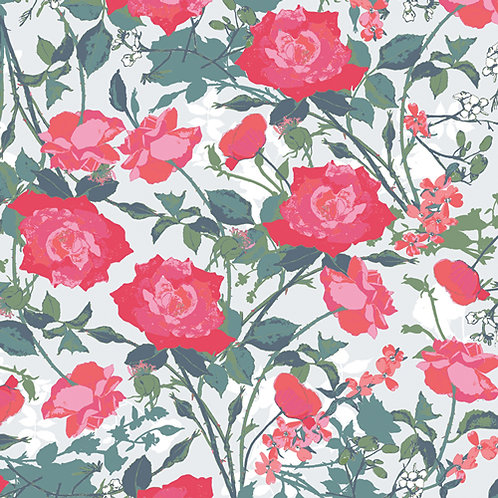 Rosemantic Trellis Bright, Picturesque collection from Art Gallery Fabrics FREE