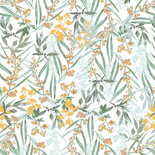 Lush Mimosa foliage print, Picturesque collection from Art Gallery Fabrics