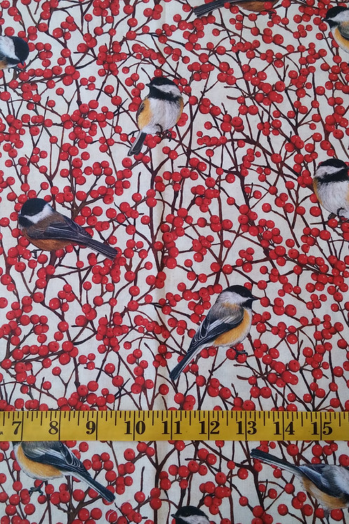 Chickadee & Winterberry