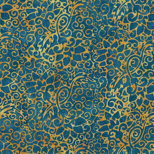 Floral Swirl cornmeal blue