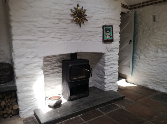 Big house kitchen wood burner
