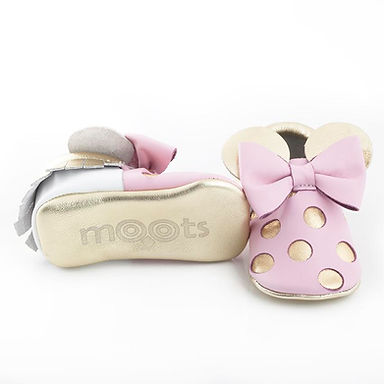 Pink Gold Minnie Mouse Moots