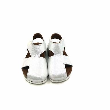 Gümüş   Hakiki Deri Moots Sandalet