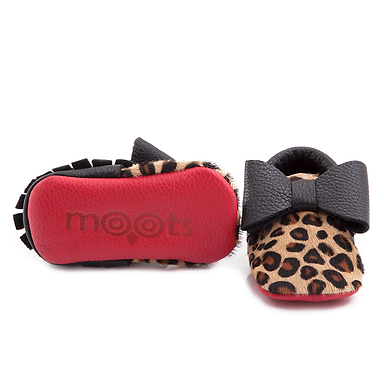 Leopard Bow Red Bottom